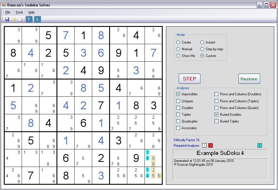 Duncan's SuDoku Solver