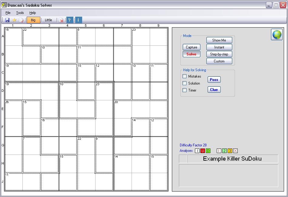 duncan s killer sudoku solver